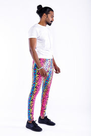 party leopard meggings side view