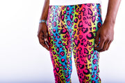 party leopard meggings close up view