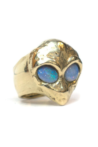 Perception Ring Brass with Rainbow Topaz - LAB BY LAURA BUSONY