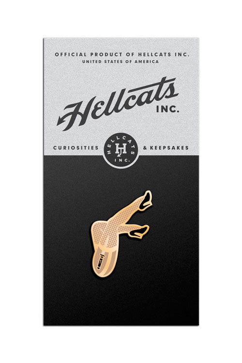 Girly Legs Lapel Pin in Black - HELLCATS INC.