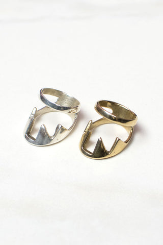 Jaws Knuckle Ring - LAB BY LAURA BUSONY