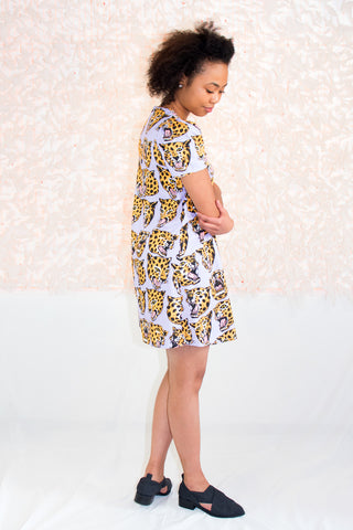 Molly Dress in Cheetah Print - NOOWORKS