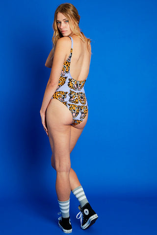 One Piece Swimsuit in Cheetah Print - NOOWORKS