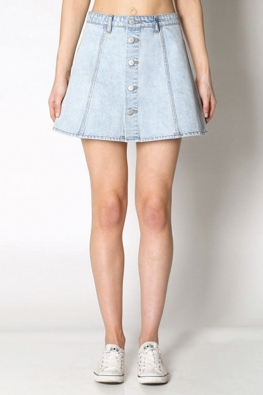 Little Games Skirt - RES DENIM