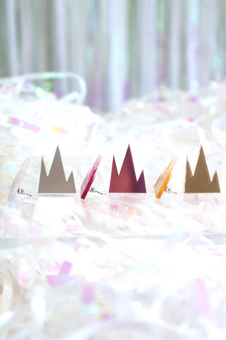 Mirrored Mountain Earrings - R/H STUDIO