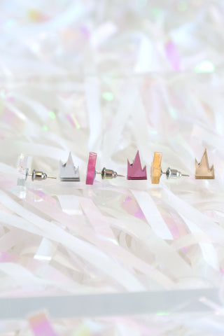 Mini Mirrored Mountain Earring Set - R/H STUDIO