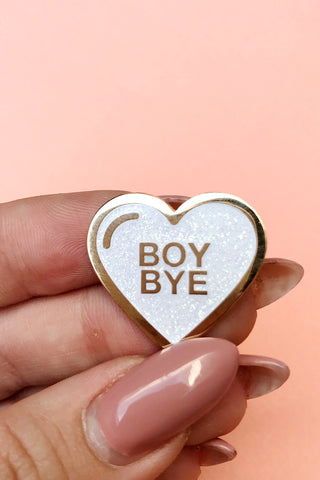 Boy Bye Glitter Lapel Pin - SAD TRUTH SUPPLY