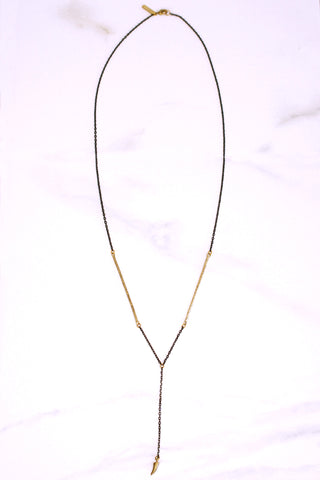 Stalactite Drop Cobra Chain Necklace - K/LLER COLLECTION