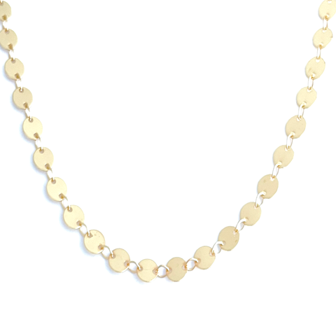 Large Disc Chain Necklace