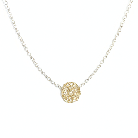 Gold Luna Circle Necklace