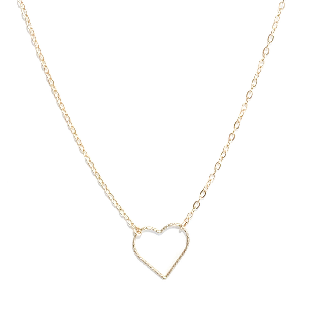 Open Gold Heart Necklace