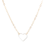 Open Silver Heart Necklace