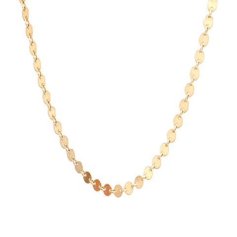 Gold Disc Chain Necklace