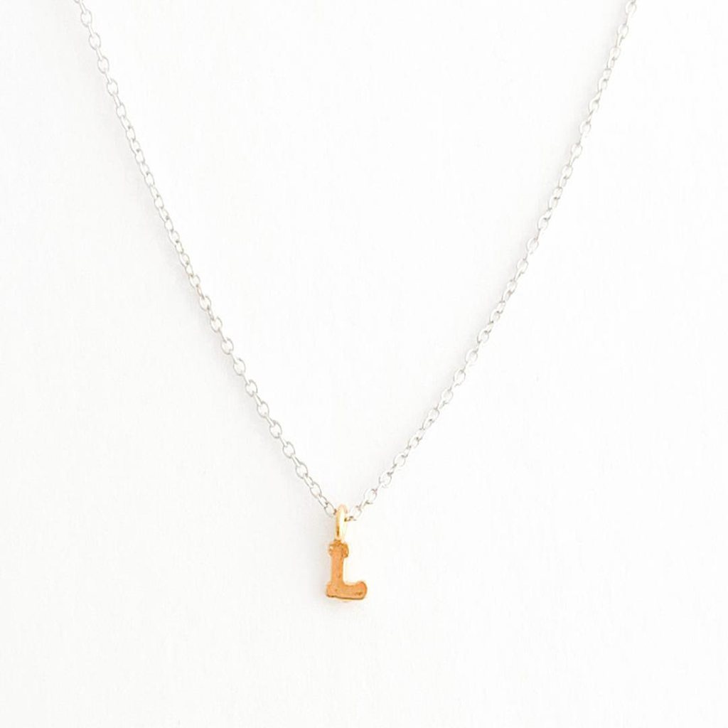 Silver Chain Initial Necklace