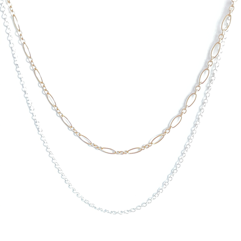 Double Layer Gold and Silver Necklace