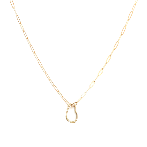 Dainty Heart Paper Clip Necklace