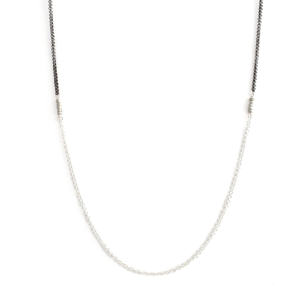 Sterling Silver and Rhodium Necklace