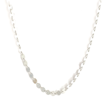 Silver Disc Chain Necklace