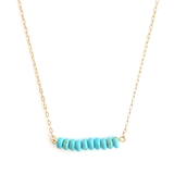 Turquoise Beaded Bar Gold