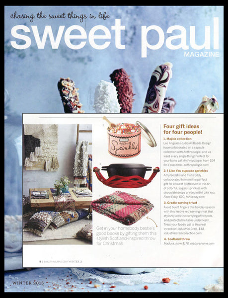 SweetPaul magazine featuring the Cradle serving trivet