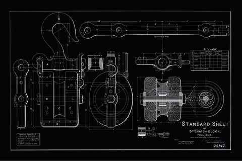 STANDARD SHEET - Vintage Technical Patent Drawing