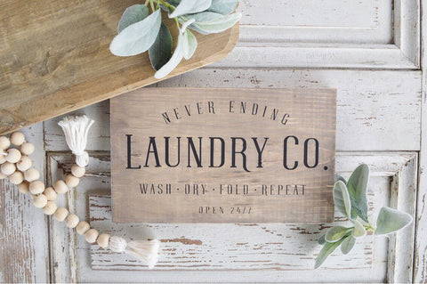 Never Ending Laundry Co. (Stained)