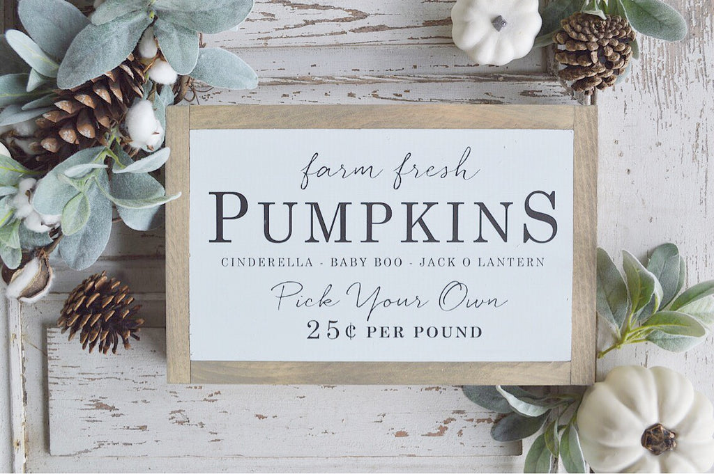 Grace Filled Farmhouse Fall Signs