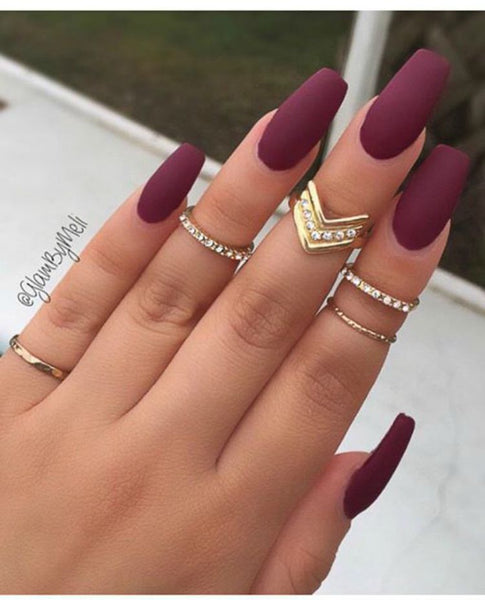 Matte nail designs have become super popular over the year. Here are a few  ways to make this understated technique fabulous. - 10 Stunning Nail Designs For 2016 Your Clients Will Love Salon