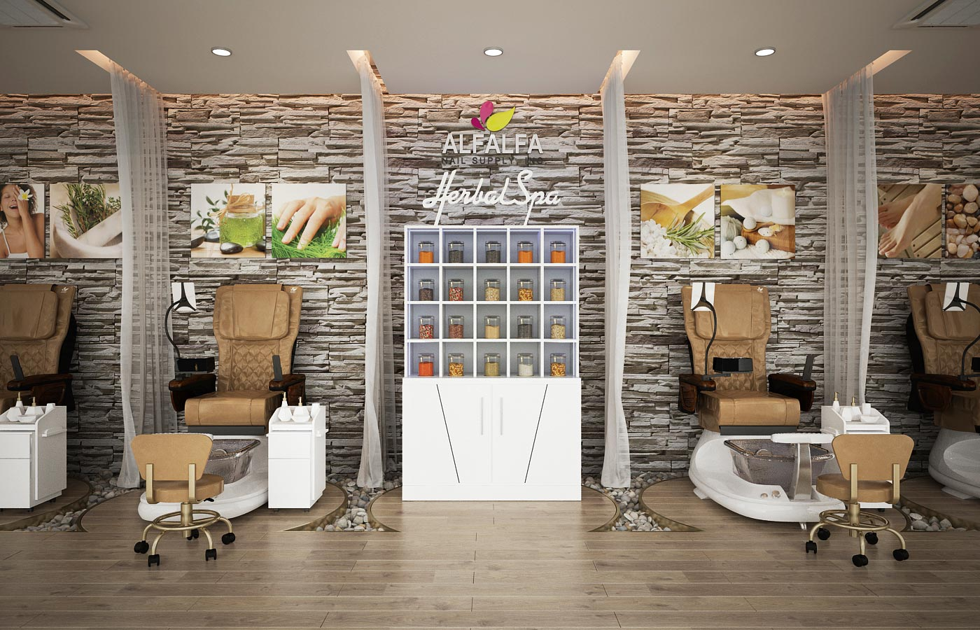 Alfalfa Nail Supply GSpa F Pedicure Spa Chair in Salon