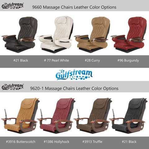 Gulfstream Pedicure Chair La Fleur 4 Color Options