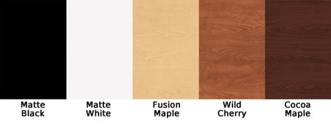Standard laminate options from Jeffco