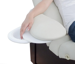 Swing Away Armrest with Manicure Tables for Salon Tables