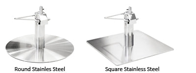 Upgrade stainless steel base in round or square