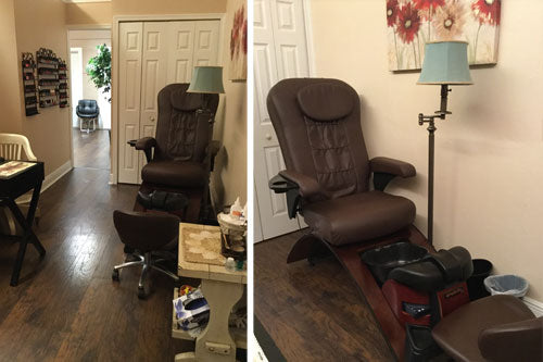 Continuum Simplicity No Plumbing Pedicure Chair at Trés Chic Beauty Boutique & Spa, Rockledge FL