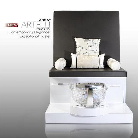 Best Pedicure Bench - ANS Artelli Spa Pedicure Bench W/ Glass Bowl