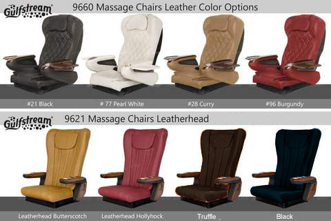 Massage chair options for Gulfstream Pedicure Spas