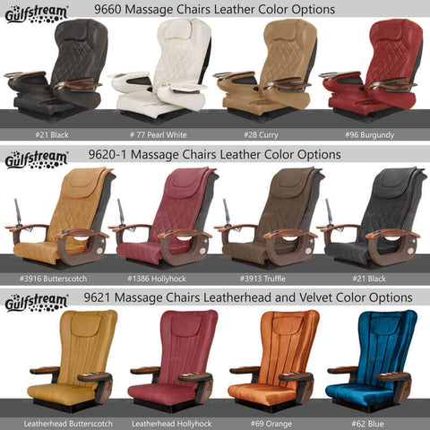 Gulfstream Pedicure Chair Color Options
