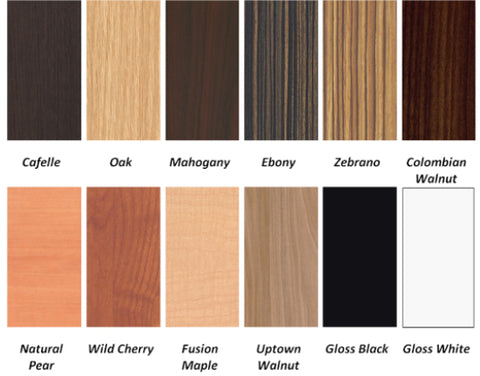 Laminate options for ANS Wooden Pedicure Spas