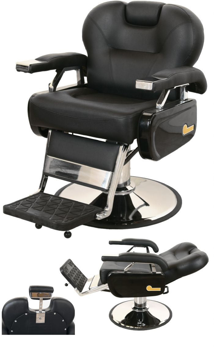 Jeffco 109 Classic Extra Wide Barber Chair W/ Oversized Chrome Base