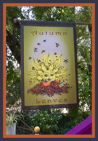 Autumn-Leaves-28x40-House-Flag-Fly-Me-The-Sunny-Breezes-Decorative-Flags-Collection-from-T-Cards-by-Bad-Ballerinas-Thanksgiving-Photo-Borders
