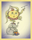 Elerina-Queen-of-the-Elephants-Circus-Smircus-designed-by-T-Cards-by-Bad-Ballerinas-Print