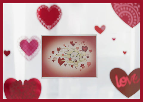 Floating-Hearts-Valentine's-Day-Winter-Holiday-Fare-Collection-designed-by-T-Cards-by-Bad-Ballerinas-Reality