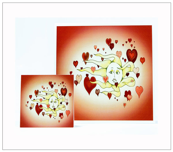 Floating Hearts-Valentines-Day-Artisan-Greeting-Card-designed-by-T-Cards-by-Bad-Ballerinas-Card-Gift Enclosur