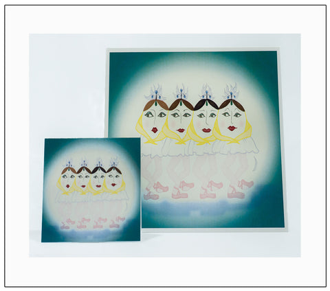 Four-Sungnets-The-Sunerinas-Greeting-Card-designed-by-T-Cards-by-Bad-Ballerinas-Gift-Enclosure