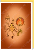 Gobble-Give-Thanks-Ready-Set-Gift-Box-of-6-Fall-Winter-Holiday-Fare-Collection-T-Cards-by-Bad-Ballerinas