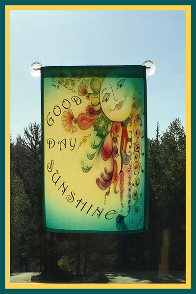 Good-Day-Sunshine-The-Sunnies-Songs-&-Sayings-Fly-Me-The-Sunny-Breezes-Flag-Collection-designed-by-T-Cards-by-Bad-Ballerinas-Small-Window