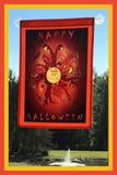 Happy-Halloween-12x18-Garden-Window-Flag-Fly-Me-The-Sunny-Breezes-Decorative-Flags-Collection-from-T-Cards-by-Bad-Ballerinas-Halloween-Photo-Borders