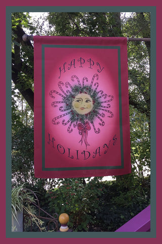 Happy-Holidays-28x40-House-Flag-Fly-Me-The-Sunny-Breezes-Decorative-Flags-Collection-Christmas-T-Cards-by-Bad-Ballerinas-Photo-Flagpole