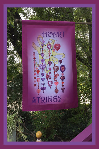 Heart-Strings-28x40-Garden-Window-Flag-Fly-Me-The-Sunny-Breezes-Decorative-Flags-Collection-Valentine_s-Day-T-Cards-by-Bad-Ballerinas-Photo-Flagpole