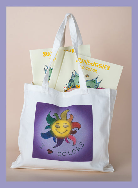 I Love Colors Small Tote Bag